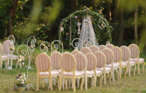 place for wedding ceremony in yard